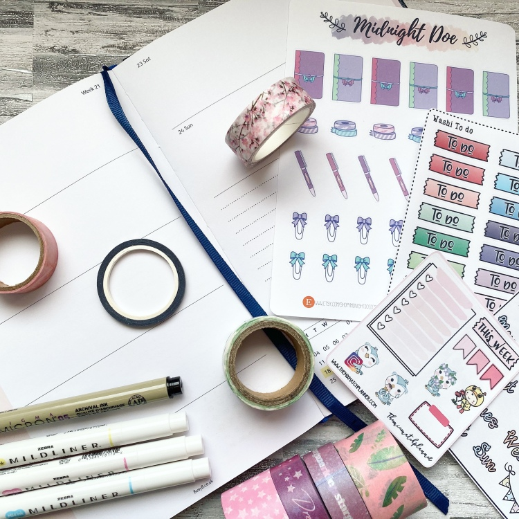 Planner and stationery washi tape and stickers