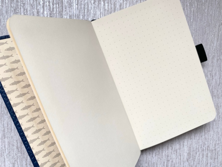 Dingbats A6 pocket dotted notebook with cream pages and grey dots for bullet journals.