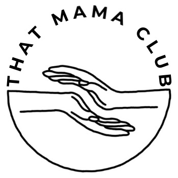 That Mama Club design logo which has two hands hovering above each other.