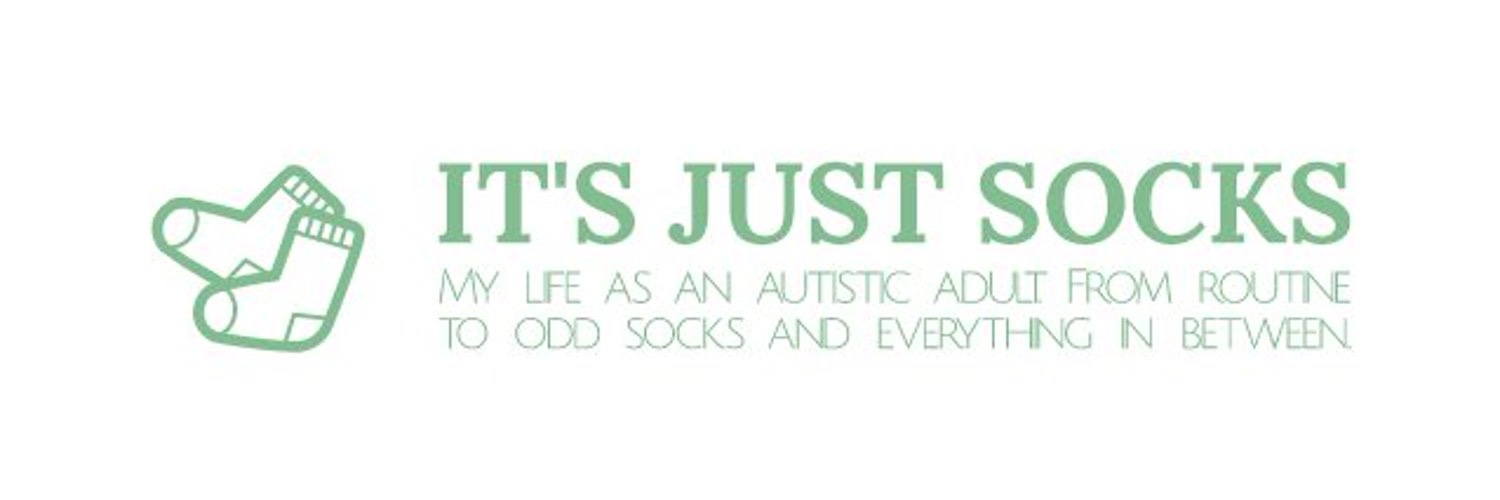 It's Just Socks spelt in capital letters in green with a picture of socks.
